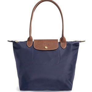 long champ bag 1948 small Shoulder Navy blue